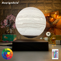 New Design Creative 3D Magnetic Levitation Moon/Earth/Mars/Jupiter/Saturn Night Light Rotating Led Floating Lamp Home Decoration