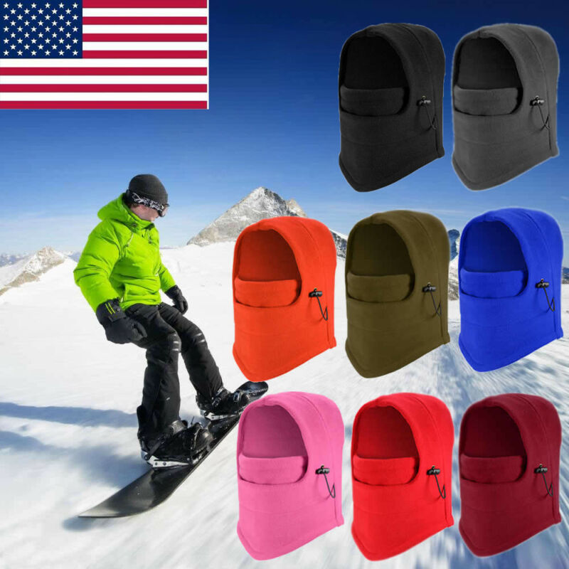 Women Men Face Mask  Ski Full Face Mask Cover Hat Cap Motorcycle Thermal Fleece Balaclava Winter Unisex Mask
