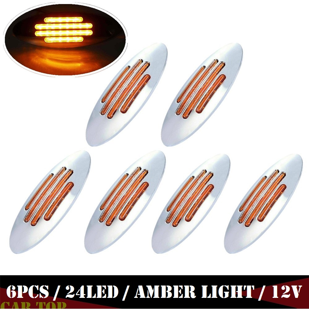 6PCS 12v Lighting Trailer Marker Lights For Trucks Side Marker Light Trailer Lights LED Lamp Truck LED Lights LED Side Marker