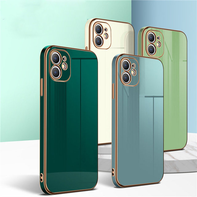 Luxury Gold Plated Electroplated Case For iPhone 11 Pro Max 8 Plus 7 XR XS X Silicone Lens Protection 12 Pro Max SE 2020 Cover 3