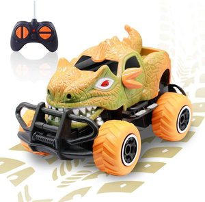 Dinosaur Remote Control Car for 3 Year Old Boys,Dino Jurassic Trucks for Kids RC Race Cars, 2020 New Gifts Monster RC Trucks Toy