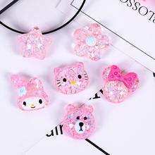 Jewelry Embellishment Making-Accessories Resin Cabochon Flat-Back Bear Flower for 10pcs/Lot