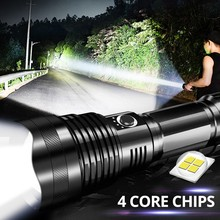 LED Zoom Flashlight XHP70 Torch USB Rechargeable Waterproof