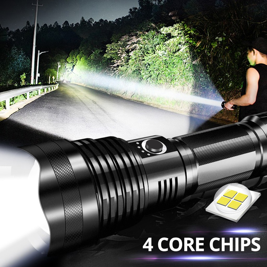 LED Zoom Flashlight XHP70 Torch USB Rechargeable Waterproof Lamp Ultra Bright Free Shipping Dropshipping Christmas Halloween