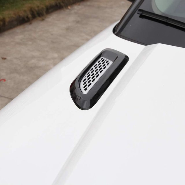 for Discovery Sport,Discovery 4/5,Freelander 2,Range Rover evoque Car Exterior Engine Hood Air Outlet Vent Cover Trim 5