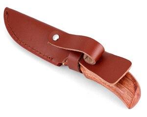 Image 5 - KKWOLF شفرة مثبتة حادة جدا سكين عالية الكربون الصلب روزوود مقبض سكين صيد بقاء التكتيكية جيب سكين أدوات التخييم