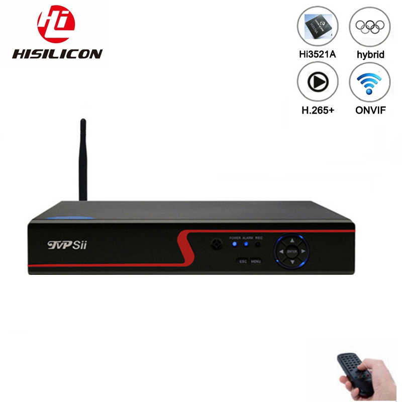 赤パネル Hi3521A 16 チャンネル 1080N H.265 + 16CH/8CH 6 で 1 Wifi ハイブリッド同軸世 NVR CVI TVi AHD CCTV DVR 送料無料