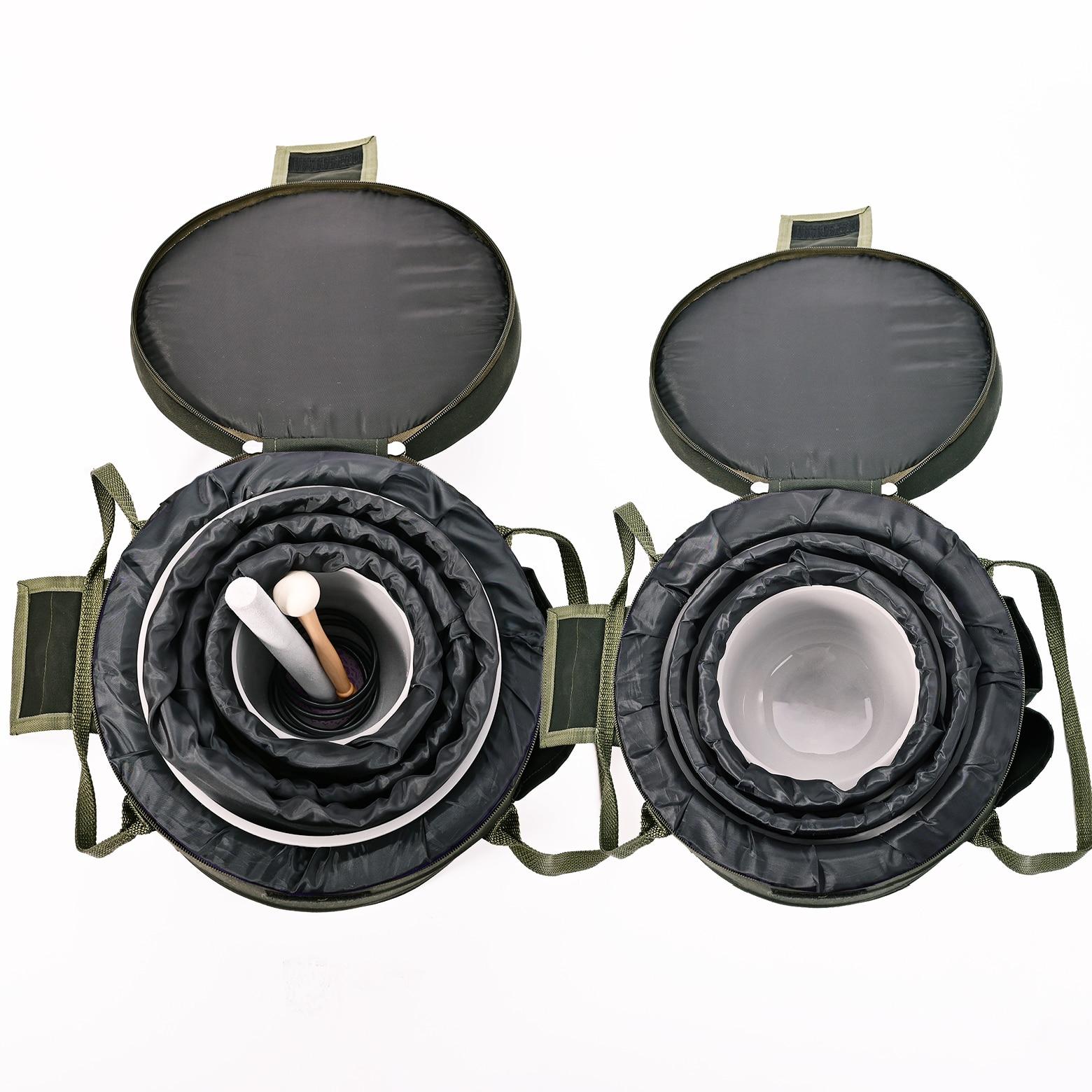 """Image 4 - CVNC 6 """" 12"""" Набор из 7 шт Note CDEFGAB цвет матовый кварцевый кристалл поющая чаша с бесплатно 2 шт вкладыш сумки для переноскиКолокольчики и звонки    АлиЭкспресс"""