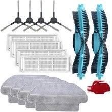 Escova principal lavável filtro escova lateral para xiaomi viomi se v2 v2pro V-RVCLM21B v3 robô aspirador de pó esfregar pano