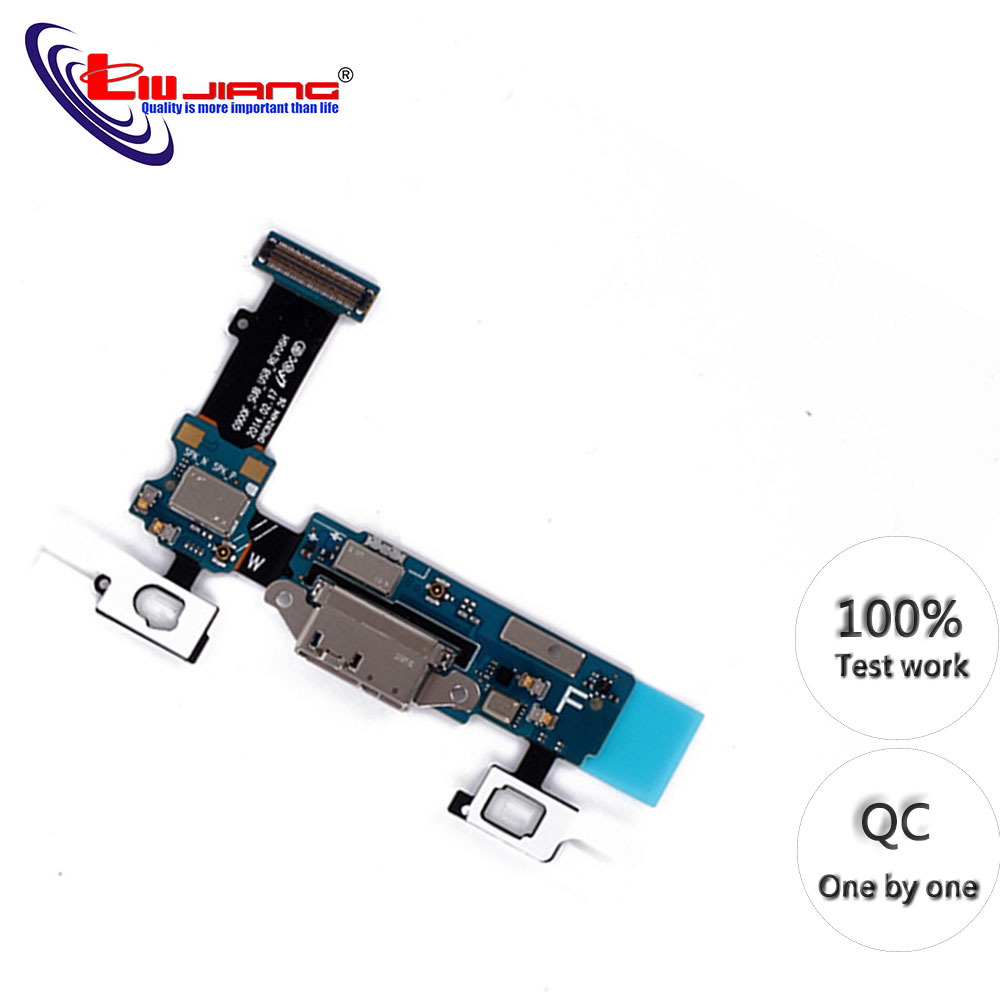 Original Charging Port Flex Cable For Samsung S5 G900 G900F G900A G900T G900V G900P Parts Replacement  Dock Port Connector