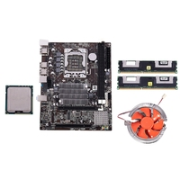 X58 Motherboard CPU RAM Combo LGA1366 Maindboard with Intel X5650 & 2 Ch 8G RAM ECC with Cooler
