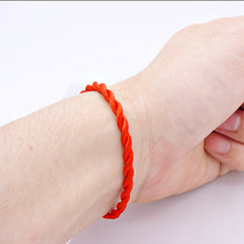 Hot Sale 2019 1PC Fashion Red Thread String Bracelet Lucky Red Green Handmade Rope Bracelet for Women Men Jewelry Lover Couple(China)