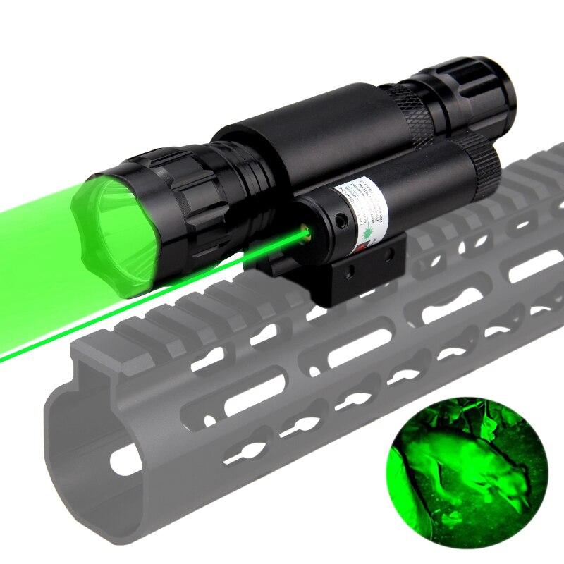 501b led tático caça arma lanterna vermelho