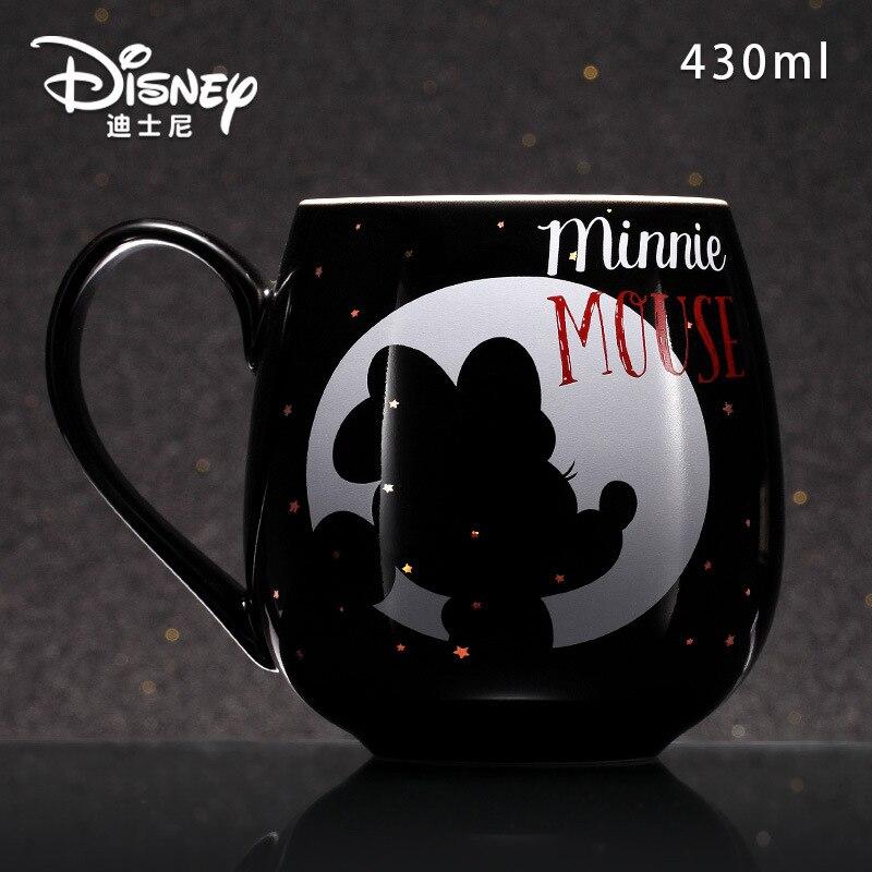 Disney tasse à eau créative Mickey Minnie | Tasse à lait en céramique dessin animé, tasse de Couple à la mode pour la maison de 430ML