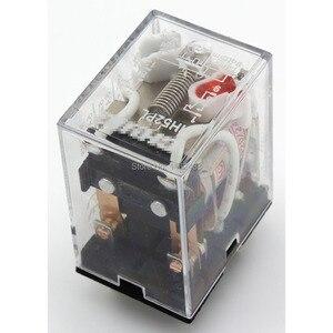 10 pçs/lote HH52PL AC 220V relé eletromagnético com LED indicador HH52P MY2 série 220VAC HH52P-L MY2NJ