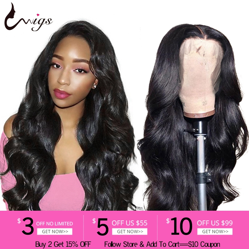 Uwigs Indian Body Wave Wig Lace Front Human Hair Wigs Pre Plucked HD Transparent Remy Hair Wigs For Black Women Bleached Knots