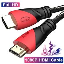 Нейлоновый Высокоскоростной HDMI кабель с поддержкой 1080P, 3D адаптер, порт дисплея, разъем для переключателя компьютера, Ps4, монитора проектора, HDTV