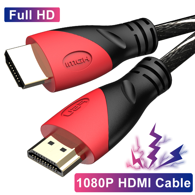 Nylon High Speed HDMI Cable support 1080P 3D Adapter display port Connector for switcher Computer Ps4 Projector Monitor HDTV
