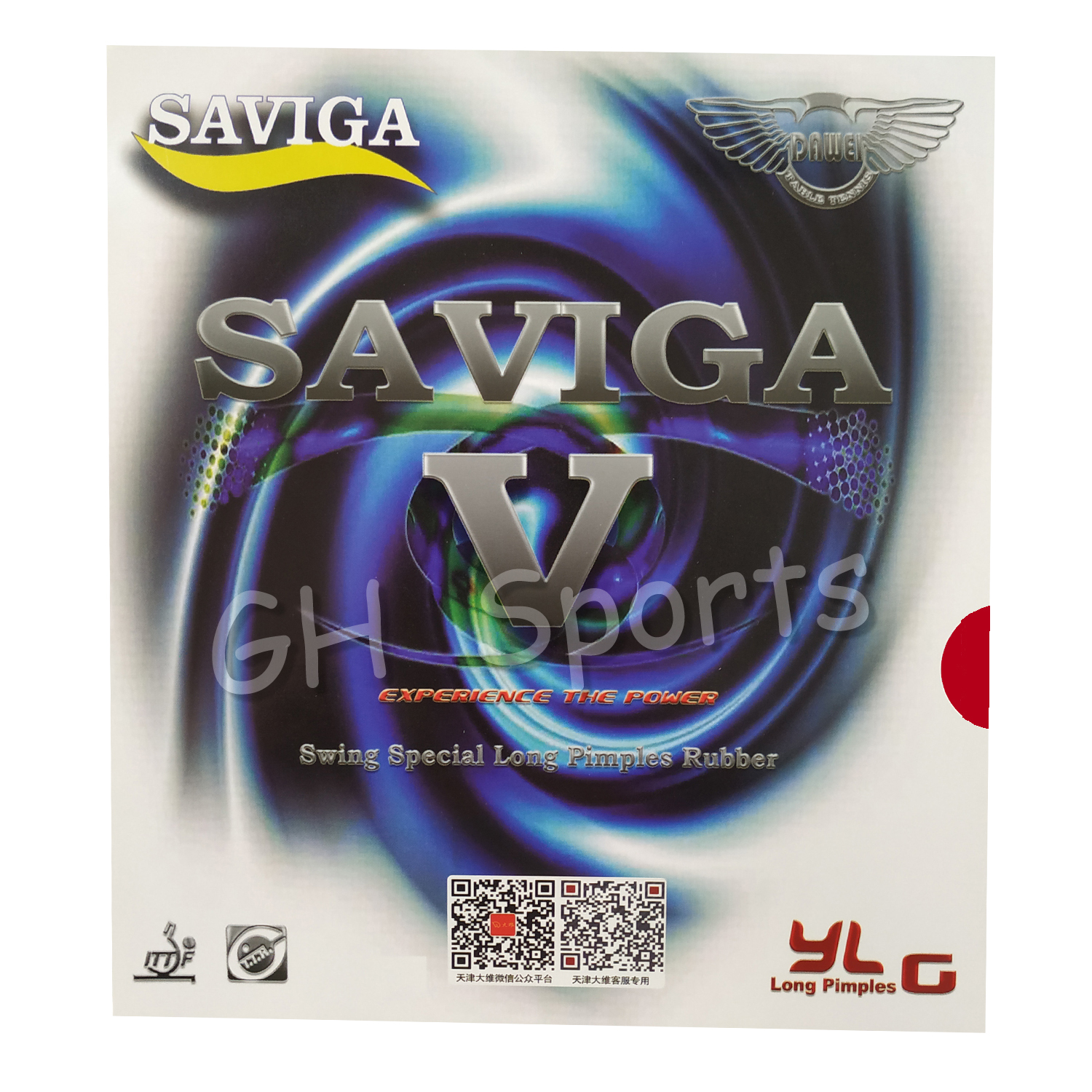 SAVIGA V Long Pips-Out Table Tennis PingPong Rubber Without Sponge Topsheet OX