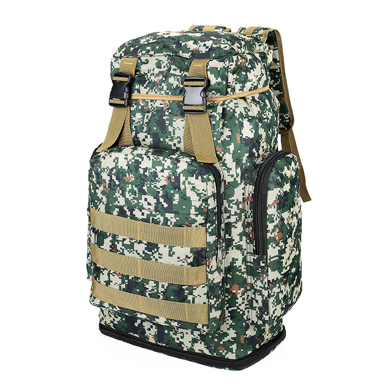 Outdoor Travel Camouflage Backpack Wearable Lightweight Large-Volume Multi-functional Sports Camping Mountain Climbing Hiking Le