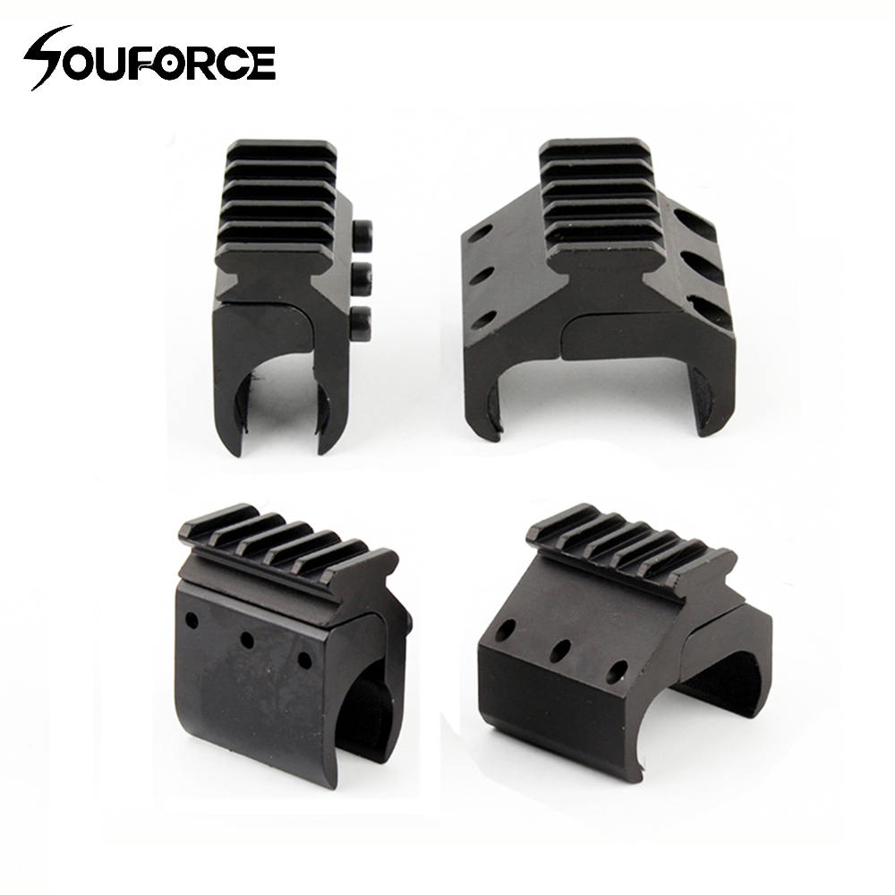 Tactical Single/Double Tube Picatinny Rail Adaptor For 20mm Rail Mount Shotgun Accessories For Hunting