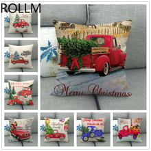 Christmas Pillow Set Print Tree Car Sofa Bed  Pillowcase Bedroom Home Decorations for