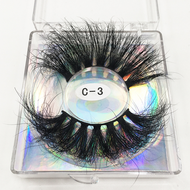 RED SIREN 25mm Lashes Real Mink Eyelashes Cruelty Free Dramatic Long Fluffy 3d Mink Lashes Extension Makeup Mink Lashes 5