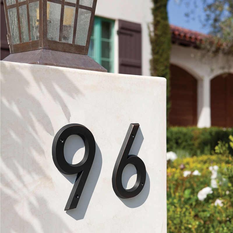 15Cm Besar 3D Modern Nomor Rumah Pintu Alamat Rumah Angka untuk Rumah Pintu Digital Outdoor Sign 6 Inch. #0-9 Usia Perunggu