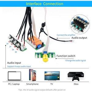 Image 5 - UNISIAN ses giriş seçimi kurulu röle 4 yönlü ses sinyal girişi 1 yollu out potansiyometre kontrol anahtarlama amplifikatör