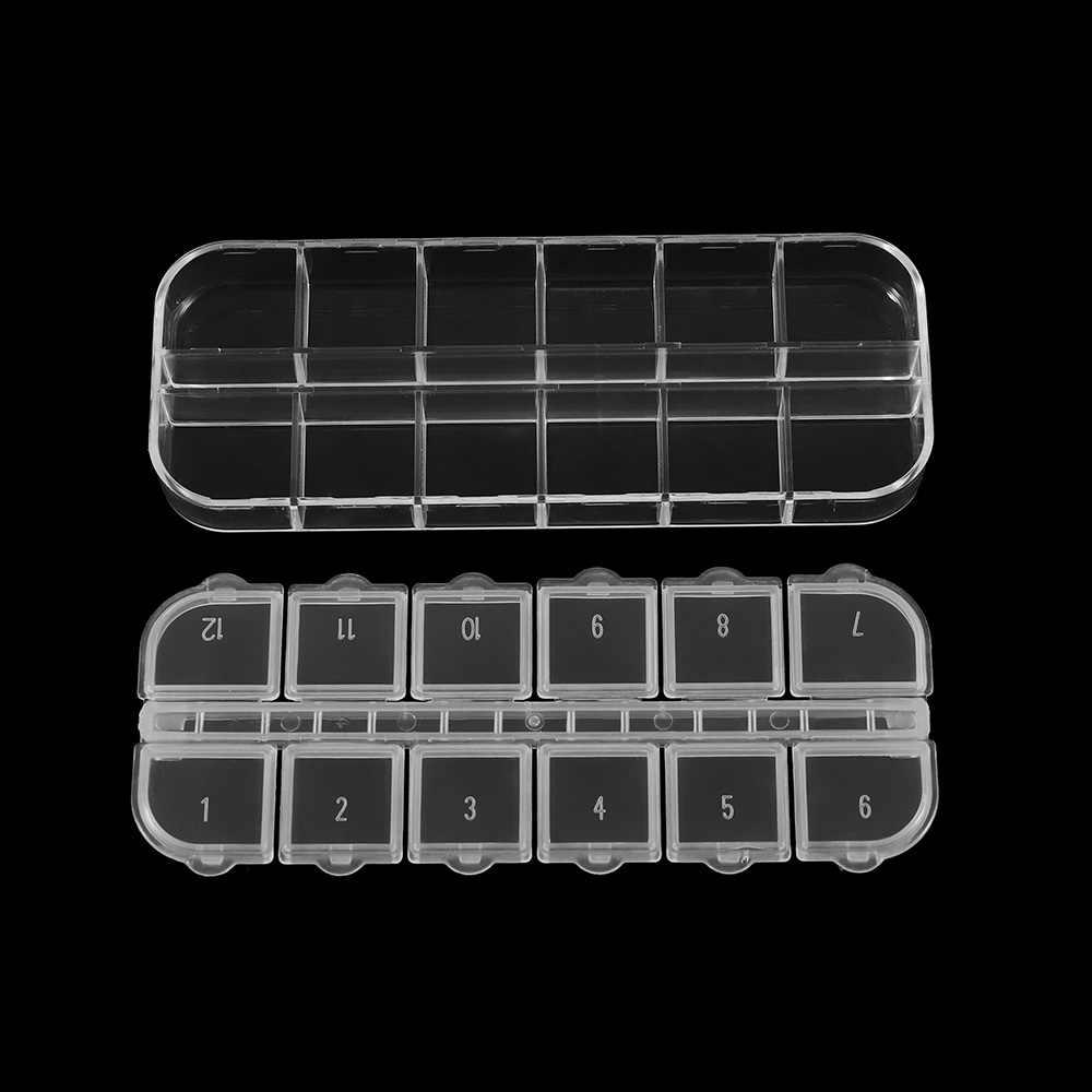 멀티 스타일 라운드 스퀘어 그리드 조정 가능한 플라스틱 보석 상자 스토리지 디스플레이 상자 DIY 용품에 대 한 보석 액세서리 저장소