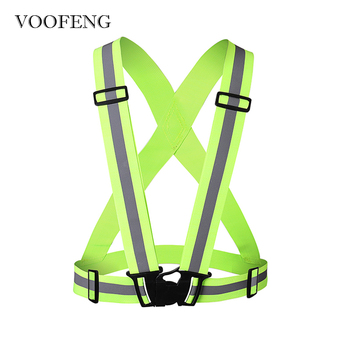 High Visibility Safety Reflective Vest Elastic Stripes Jacket for Night Running Cycling Outdoor Sports Unisex Adjustable Vest unisex car motorcycle reflective safety clothing high visibility safety reflective vest warning coat reflect stripes tops jacket