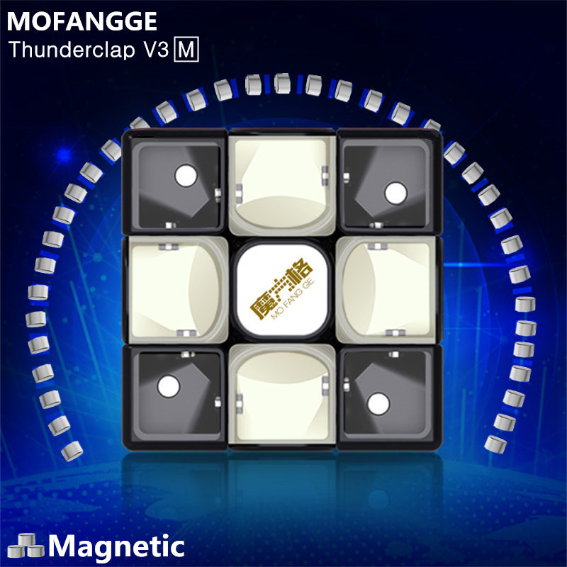 QiYi Mofangge Thunderclap V3 M Leiting Magnetic Magic Speed Cube Professional Magnets Puzzle Cube Educational Cubos Magico Toys