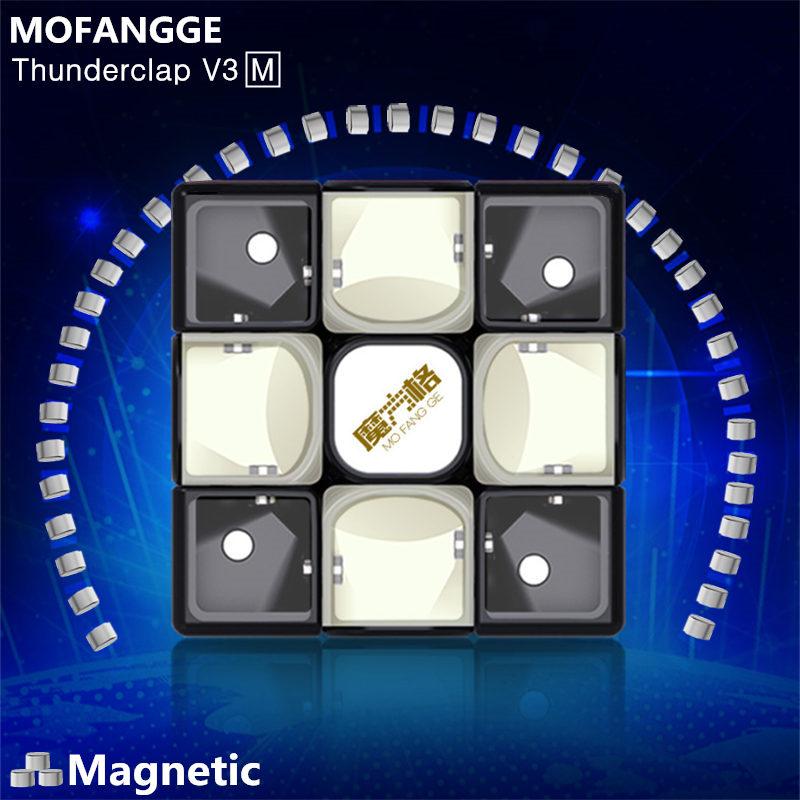 QiYi Mofangge Thunderclap V3 M Leiting Magnetic Magic Speed Cube Professional Magnets Puzzle Cube Educational Cubos Magico Toys