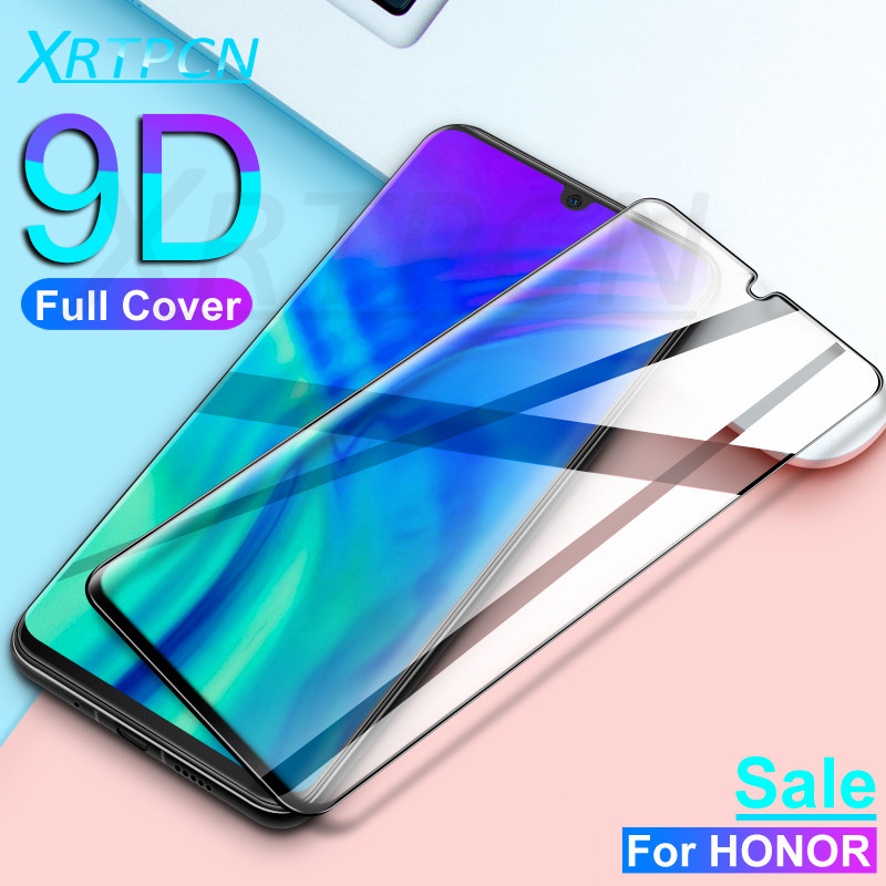 9D Full Cover Tempered Glass On The For Huawei Honor 9 10 20 Lite V10 V20 20S 9X 8X 8A 8S Screen Safety Protective Glass Film