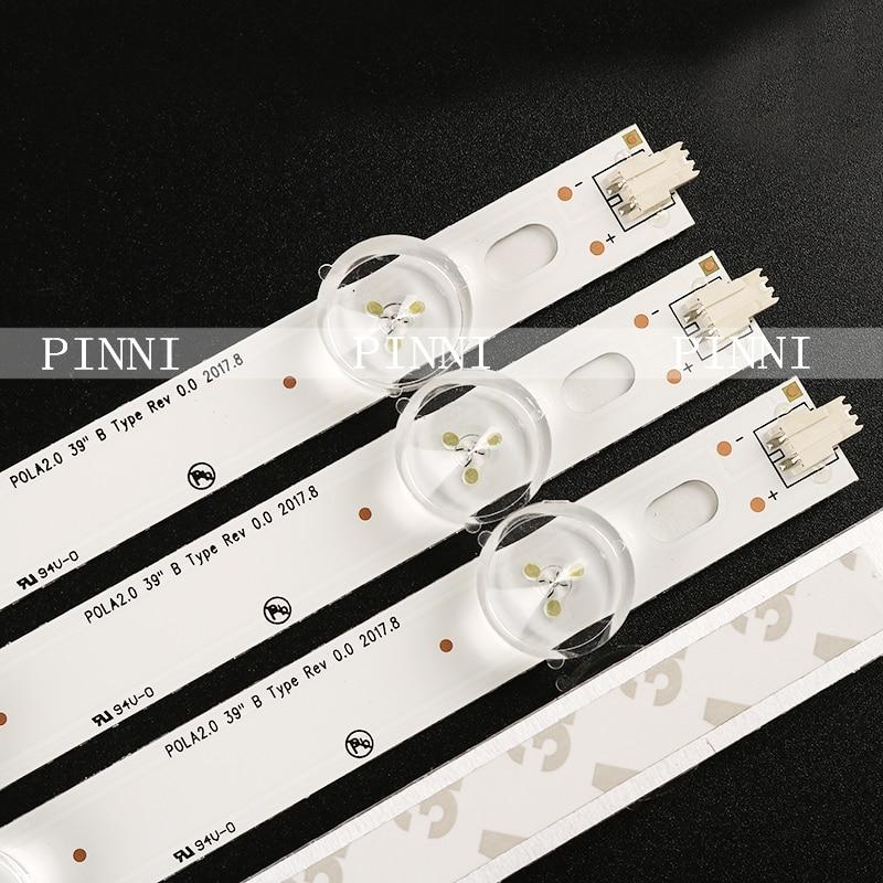 Lampes LED bande de rétro-éclairage pour LG 39LN5757 39LN5758 39LN575R 39LN575S-ZE Kit de barres lumineuses de télévision bande de LED POLA2.0 39
