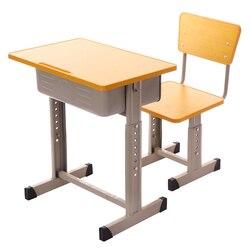 School Bureau Bureaus en Stoelen Student Enkele Set Counseling Bureau Tafel Training Tafel Aanvullende Bureau