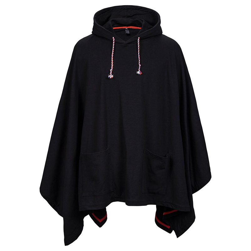 Unisex Casual Hooded Poncho Cape Cloak Hip Hop Streetwear Men Hoodies Sweatshirts Fashion Coat Hoodie Pullover With Pocket XXL