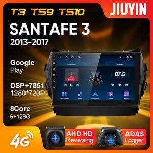 Image 1 - JIUYIN Typ C Auto Radio Multimedia Video Player Navigation GPS Für Hyundai Santa Fe 3 2013   2017 Android Keine 2din 2 din