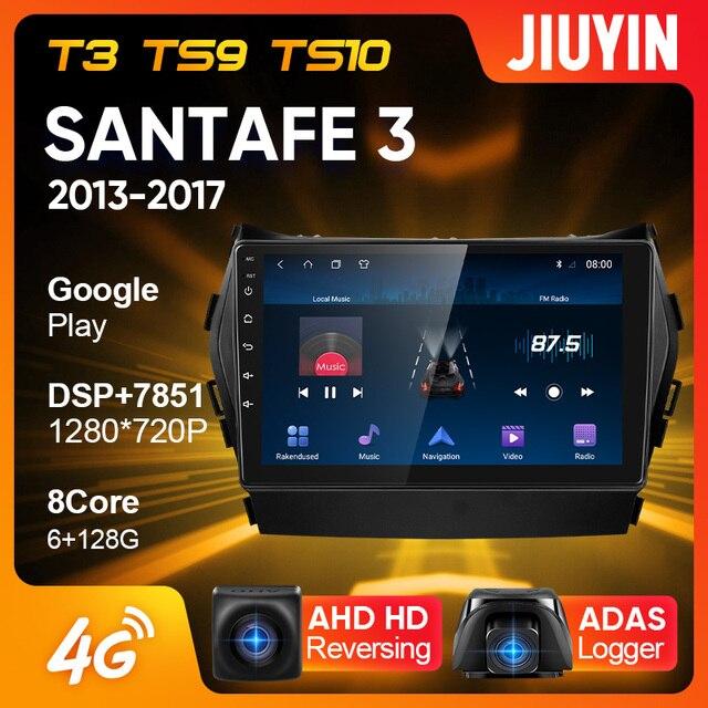 JIUYIN Typ C Auto Radio Multimedia Video Player Navigation GPS Für Hyundai Santa Fe 3 2013   2017 Android Keine 2din 2 din