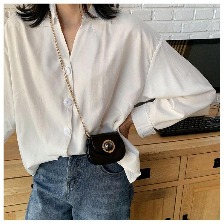Mini Fashion Pu Soild Color Saddle Bags For Women Small Bag Leather Handbags And Lady Shoulder Bags Cross Body Bag (24)