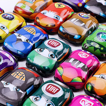 Toys for Children Pull Back Car Set Boys Educational Racing Story Q Version Mini Car Model Games Baby Kids Toy Gift W14 image