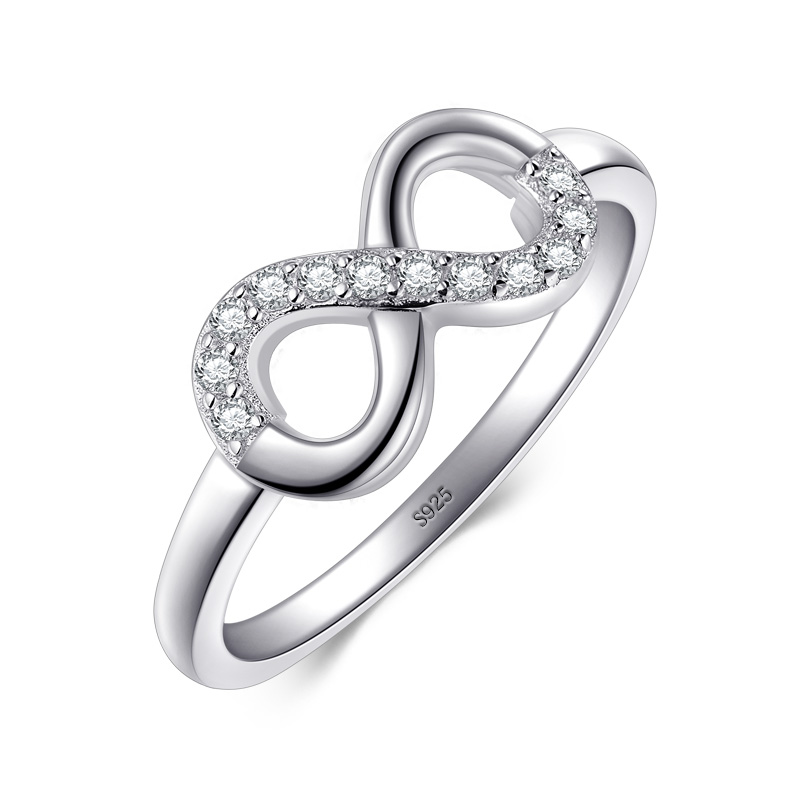 CloseoutWarehouse Clear Cubic Zirconia Band Plain Heart Ring Sterling Silver