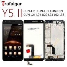 עבור Huawei Y5 השני LCD תצוגת Y5II צון U29 L21 מגע מסך צון L01 L02 L03 L22 L23 L33 עבור huawei Y5 השני תצוגה עם מסגרת