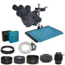 3.5X 90X simull focal Trinocular mikroskop Stereo 38MP 2K HDMI USB kamera wideo mikroskop lutowania PCB telefon naprawa biżuterii