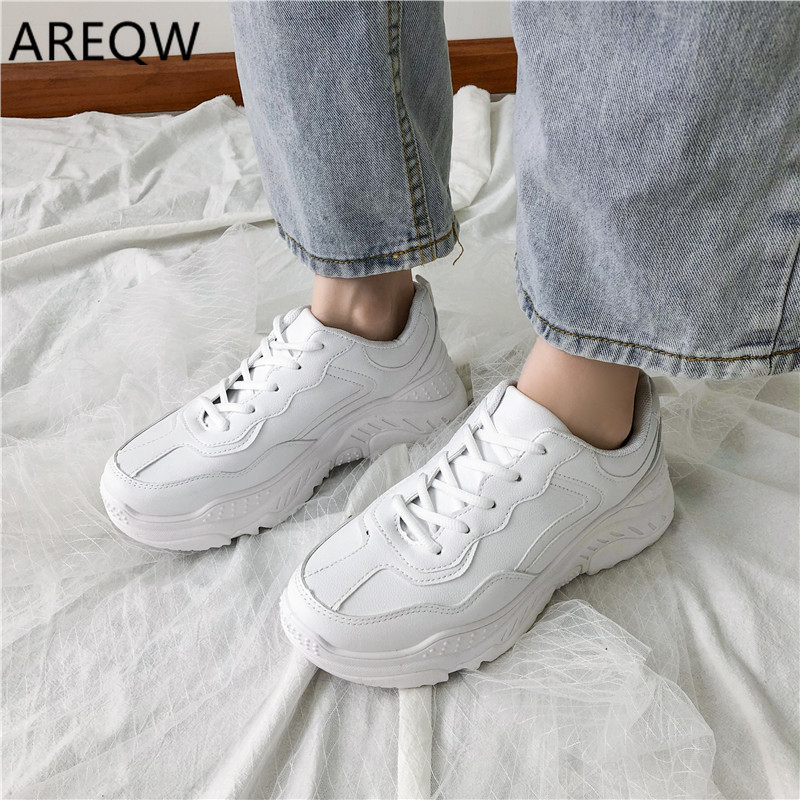 2020 Women Fashion Breathable Spring Flock Flats Lace Up Ladies Shoes Woman Sneakers Tenis Feminino Casual Shoes