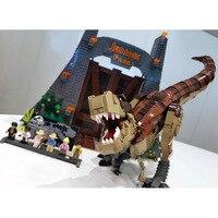 2019 New Dinosaur Park Lepinblocks 61001 Compatible 75936 Rex Rampage Building Blocks Bricks Educational Toys Gifts lepinbricks