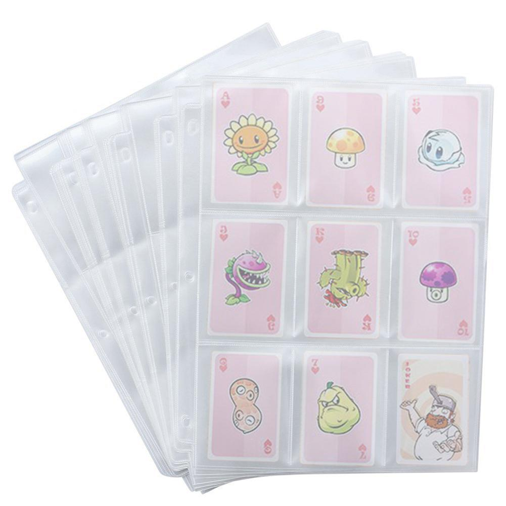 Topsale 50 Game Card Sets Storage Wallet Album Page Collection Neutral Transparent Game Card Sleeves Card Album Card Cover