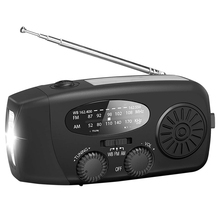 Emergency Solar Hand Crank Radio Portable Self Powered Am/Fm/Noaa Weather Radio Led Zaklamp Voor Mobiele Telefoon lader