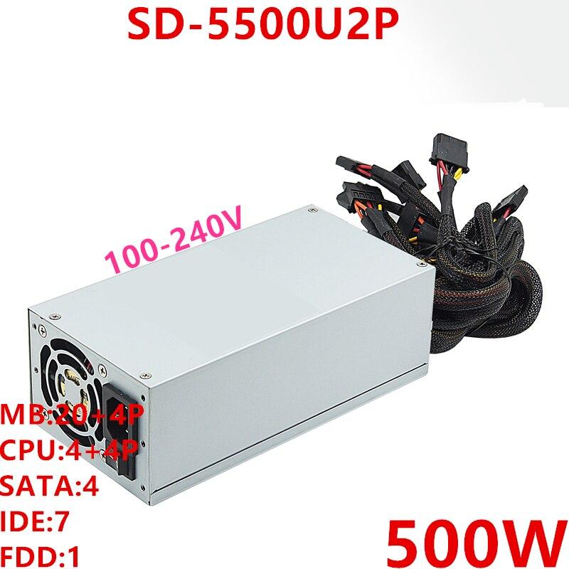 Nueva fuente de alimentación PSU para r-senda IP 2U 500W SD-5500U2P Mini estufa eléctrica de 500 W, placa de cocina caliente, leche, agua, café, calefacción, aparato cocina multifuncional