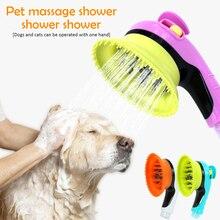 Haustier Hund Bad Sprayer Welpen Hunde Katzen Waschen Pflege Bade Massage Pinsel Handheld Dusche Sprayer Pflege Werkzeuge